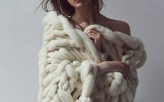 Крупная вязка крючком: шарф и кардиганы по фото