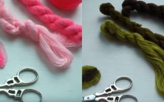 Объемная вышивка нитками: уроки и мастер класс для начинающих