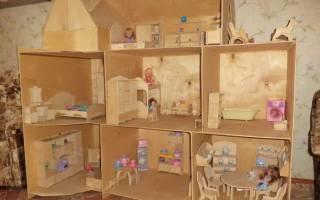 Кукольный домик для барби: делаем своими руками по фото-подборке