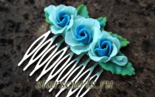 Гребни для волос своими руками: варианты из полимерной глины и с цветами
