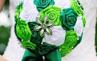 Букет невесты своими руками пошагово: мастер-класс с помощью атласных лент