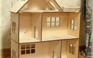 Кукольный домик своими руками: делаем из гипсокартона и из картона