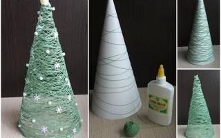 Как сделать елку из ниток и клея пва: пошаговая инструкция и мастер класс с фото