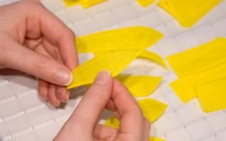 Подсолнух из гофрированной бумаги: мастер класс с фисташками и конфетами
