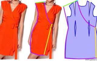 Выкройка платья с запахом: пляжного, платья в пол и летнего фасона
