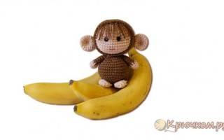 Вяжем обезьянку по схеме: мастер класс с видео
