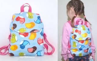 Детский рюкзак своими руками: мастер класс для девочки и для мальчика