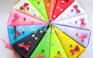 Торт из картона своими руками с пожеланиями: шаблон и мастер класс