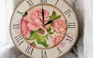 Часы своими руками: делаем в технике декупаж