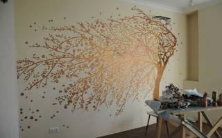 Роспись стен своими руками: оформление, идеи и техника оформления в интерьере
