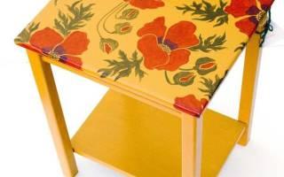 Декорирование мебели своими руками: фото в статье