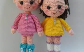 Одежда для вязаной куклы: делаем для игрушек крючком