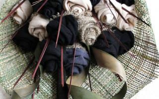Букет из мужских носков: мастер класс как сделать своими руками