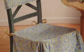 Накидка на стул своими руками из ткани: делаем выкройки за час