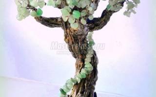 Дерево из камней: мастер класс своими руками