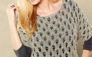 Ажурное пончо спицами: схемы и описание как делать для полных женщин