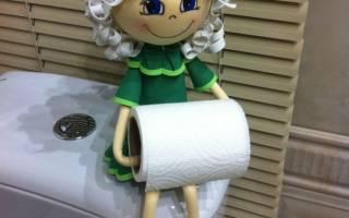 Кукла держатель для туалетной бумаги: мастер класс своими руками