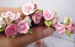 Как своими руками сделать розу из полимерной глины — мастер-класс для начинающих с фото и видео уроками