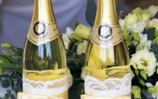 Декор новогодней бутылки: мастер класс как украсить бутылку шампанского