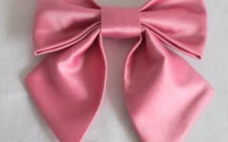 Как сделать бантик из ткани своими руками: большой бант на голову и на платье пошагово с инструкцией