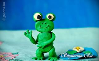 Лягушка из пластилина: пошагово своими руками