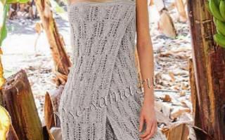 Выкройка пляжного платья из шифона и из кружева, мк по вязанию с пошаговыми фото и видео