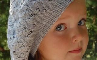 Берет для девочки спицами: фото и подробная текстовая инструкция