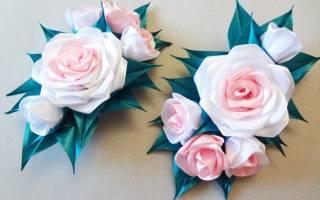 Роза канзаши: мастер класс по изготовлению бутона розы