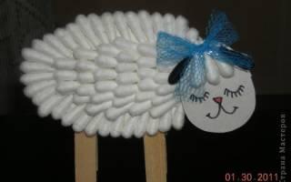 Как сделать овечку из пластилина и ватных палочек: мастер класс поэтапно