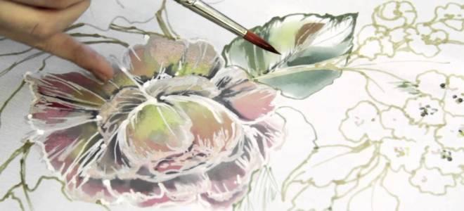 Роспись по шелку: мастер класс для начинающих и художественная техника