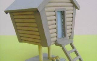 Избушка на курьих ножках: схема с фото в статье