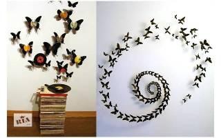 Аппликация бабочки из бумаги: делаем шаблон из сердечек