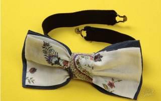 Бабочки на шею своими руками из ткани: выкройка и мастер класс как сделать пошагово