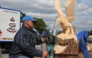 Резьба по дереву бензопилой: мастер класс и инструкция как выбрать материал