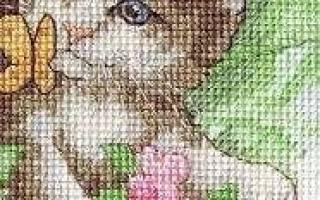Вышивка полукрестом для начинающих: вышиваем пошагово бисером