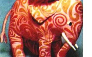 Игрушка слон своими руками: выкройки с фото