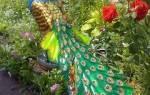 Павлин из бутылок: мастер класс и пошаговая инструкция