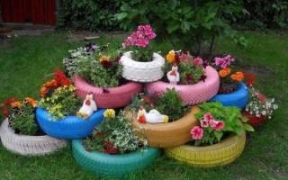 Садовые фигуры своими руками: мастер-класс из покрышек, из глины и из шин