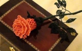 Ажурная роза из бисера: мастер класс с видео и схема выполнения