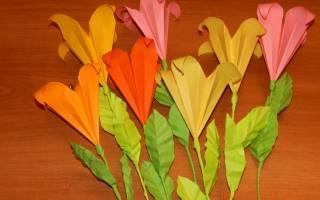 Лилии из бумаги своими руками: мастер класс и пошаговая инструкция
