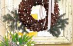 Как сделать рождественский венок своими руками: пошаговый мастер класс из еловых веток и шишек
