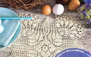 Квадратная салфетка крючком: описание со схемами