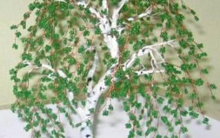 Береза из бисера: мастер-класс с фото, видео и схемами плетения