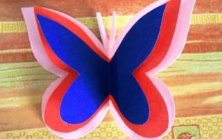 Объемная бабочка своими руками: схема прилагается