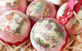 Мастер класс по декупажу елочных шаров: видео и фото в статье