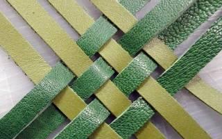 Плетение из кожи: виды, техника и фото изготовления своими руками