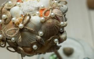 Мастер класс по топиарию из ракушек своими руками: пошаговое фото как сделать морской вариант