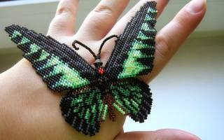 Как сделать бабочку из бисера: мозаичное плетение и пошаговая инструкция
