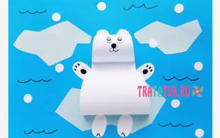 Аппликация из кругов цветной бумаги: делаем поделку «медведь» с шаблонами