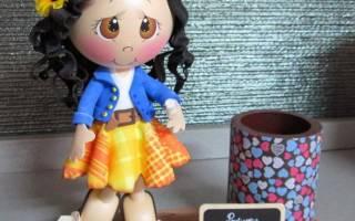Кукла из фоамирана: мастер-класс и выкройки для начинающих